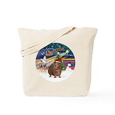 R-XmasMagic-GuineaPig3-HAT Tote Bag