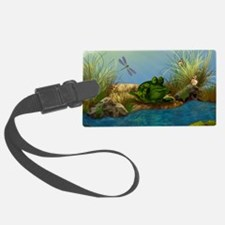 The Sunbather 16x20 Luggage Tag