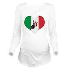 I heart Dominick Long Sleeve Maternity T-Shirt