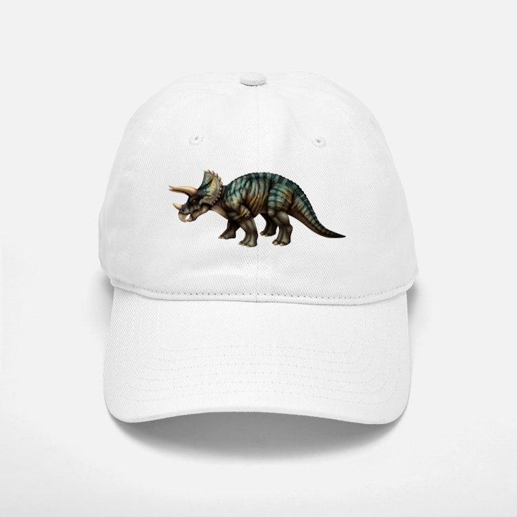 Triceratops_onBLK Baseball Baseball Cap