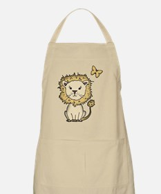 lion and butterfly png Apron