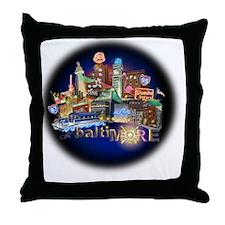 baltiMORE Hot Spot Throw Pillow