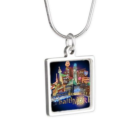 baltiMORE Silver Square Necklace