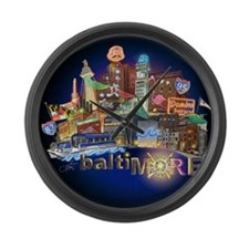 baltiMORE Large Wall Clock