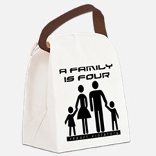 Family Is Four Canvas Lunch Bag
