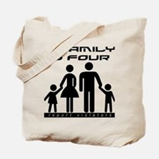 Family Is Four Tote Bag