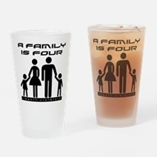 Family Is Four Drinking Glass