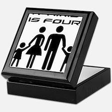 Family Is Four Keepsake Box