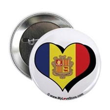 """I Love Andorra 2.25"""" Button (100 pack)"""