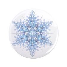 """Snowflake Designs - 023 - transparent 3.5"""" Button"""