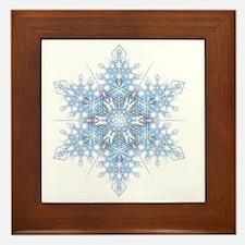Snowflake Designs - 023 - transparent Framed Tile