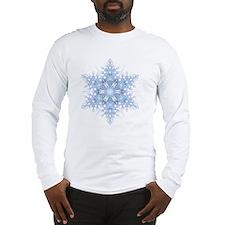 Snowflake Designs - 023 - tran Long Sleeve T-Shirt