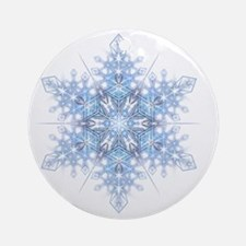 Snowflake Designs - 023 - transpare Round Ornament