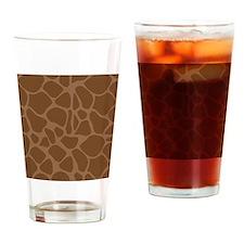 Giraffe Print flip flops Drinking Glass