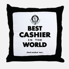 The Best in the World – Cashier Throw Pillow