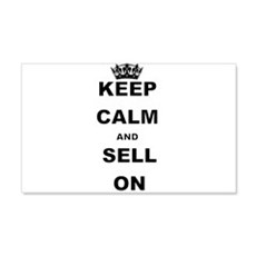 KEEP CALM AND SELL ON Wall Decal