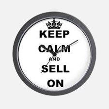 KEEP CALM AND SELL ON Wall Clock