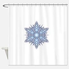 Snowflake Designs - 023 - transpare Shower Curtain