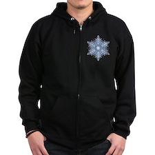 Snowflake Designs - 023 - transp Zip Hoodie