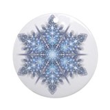 Snowflake christmas Round Ornaments