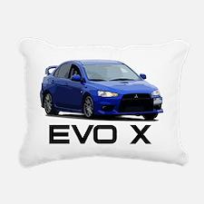 Evo Corner Work Black Rectangular Canvas Pillow