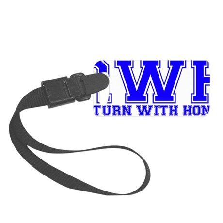 Return With Honor - RWH - Blue Small Luggage Tag