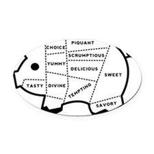 Pig Eater Chart Oval Car Magnet