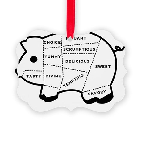 Pig Eater Chart Picture Ornament