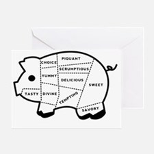 Pig Eater Chart Greeting Card