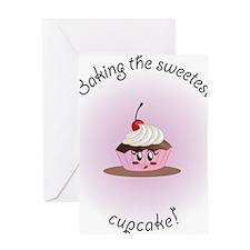 sweetcupcakeGirl Greeting Card