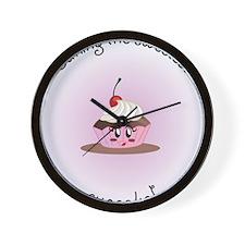 sweetcupcakeGirl Wall Clock
