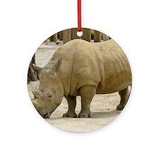rhino 1 Round Ornament