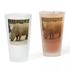 rhino 1 Drinking Glass