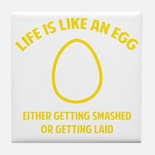 lifeEgg1F Tile Coaster