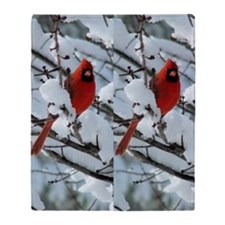 Cardinal Winter Throw Blanket