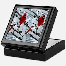 Cardinal Winter Keepsake Box