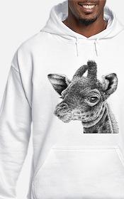Giraffe Calf (Throw pillow) Hoodie