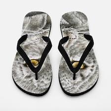 Snow Leopard (Throw pillow) Flip Flops