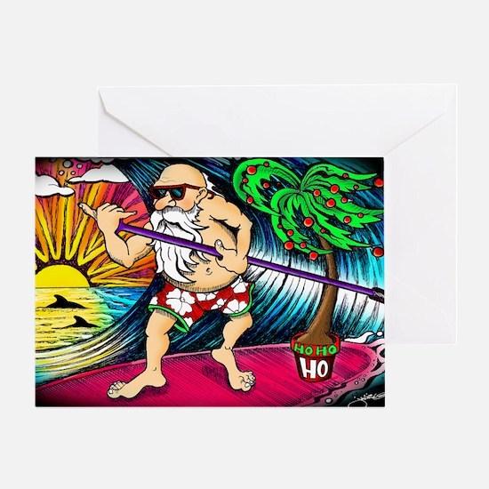 santa-flat Greeting Card