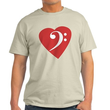 Bass Clef Heart Light T-Shirt