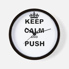 KEEP CALM AND PUSH Wall Clock