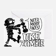 Uke Zombie Greeting Card