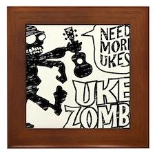 Uke Zombie Framed Tile