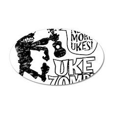 Uke Zombie 35x21 Oval Wall Decal