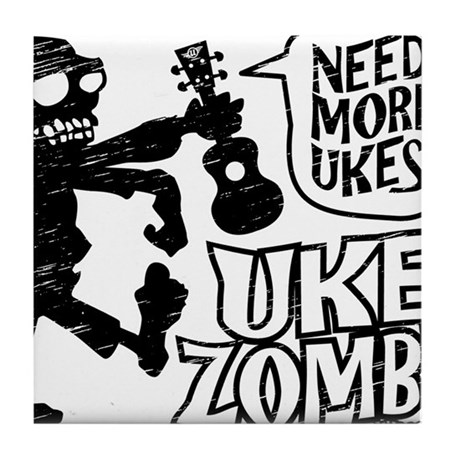 Uke Zombie Tile Coaster