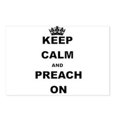 KEEP CALM AND PREACH ON Postcards (Package of 8)