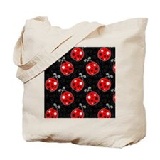 Red Ladybug Flip Flops Tote Bag