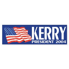 Kerry President 2004 (flag bumper sticker)