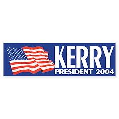 Kerry President 2004 (flag bumper sticker)