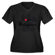 I Love My Bo Women's Plus Size Dark V-Neck T-Shirt
